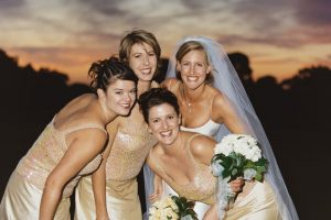 Bride and her girls - Sunset Mornington Peninsula Golf club