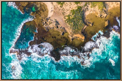 Natural Rock Pool - Aerial Art Work
